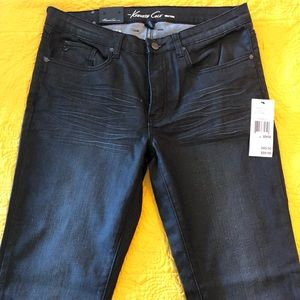 Kenneth Cole Jeans - Kenneth Cole Mens Straight Leg Black Jeans 32/32